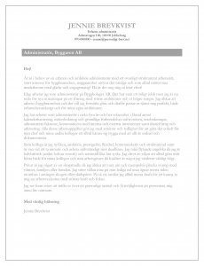 Personligt brev mall och exempel