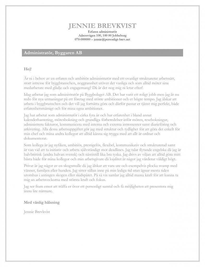 personligt brev