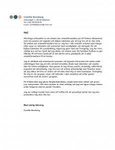 Personligt brev arbetsförmedlare