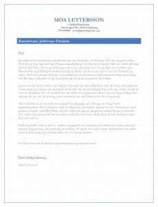 Personligt brev barnskötare