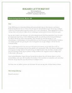 Personligt brev redovisningsekonom