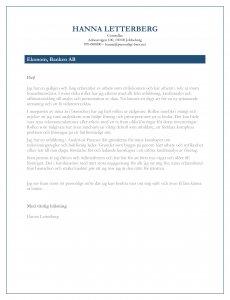 personligt brev ekonom