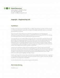Personligt brev ingenjör