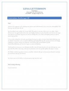 Personligt brev lokalvårdare