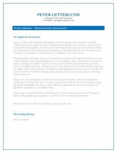 Personligt brev studievägledare