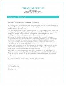 Personligt brev sjukgymnast